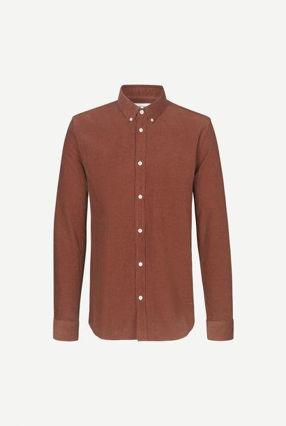 Liam BX Shirt Kaneelbruin Corduroy