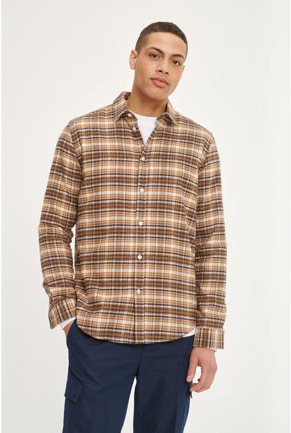 Liam NX Shirt Cumin Checker Brown
