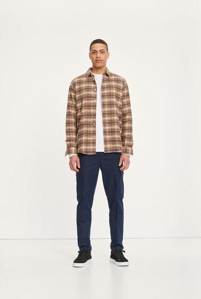 Liam NX Shirt Geruit Bruin