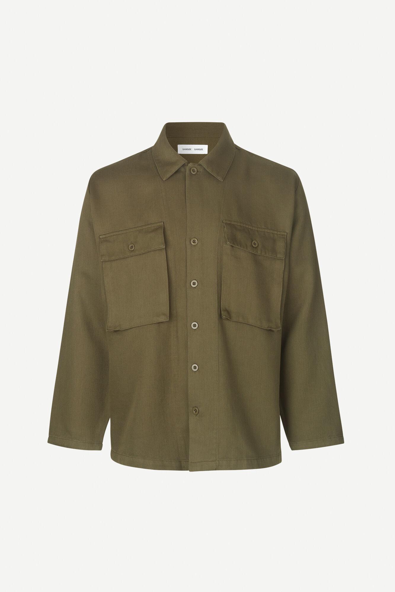 Vega Dark Olive Overshirt 12804-1