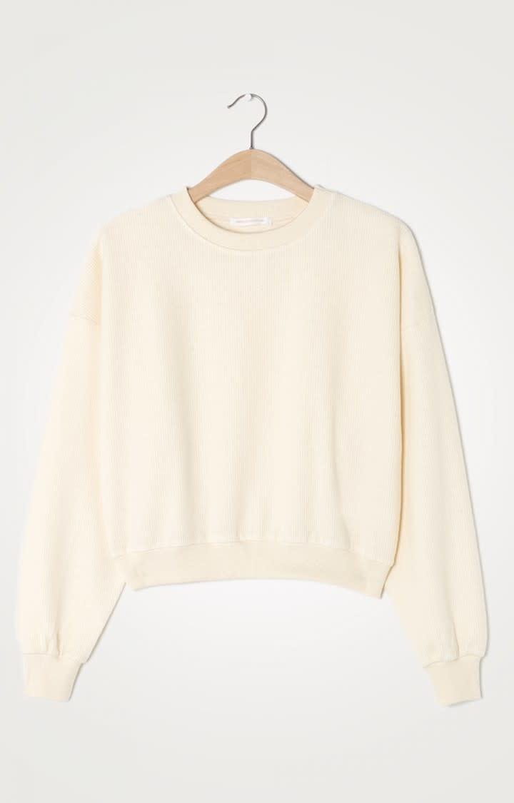 Narabird Ecru White Sweatshirt-3