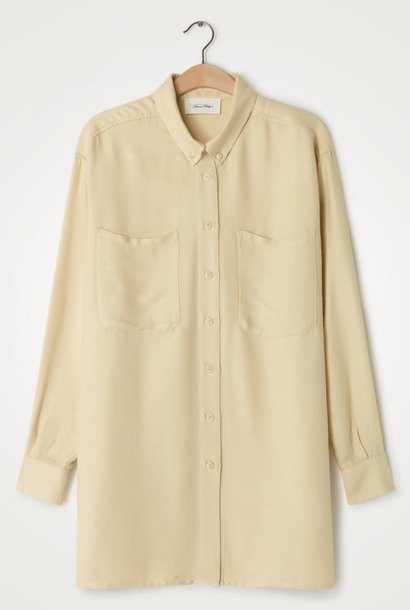 Vimbo Ecru Wit Oversized Overhemd