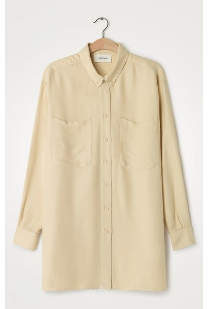 Vimbo Ecru White Oversized Shirt