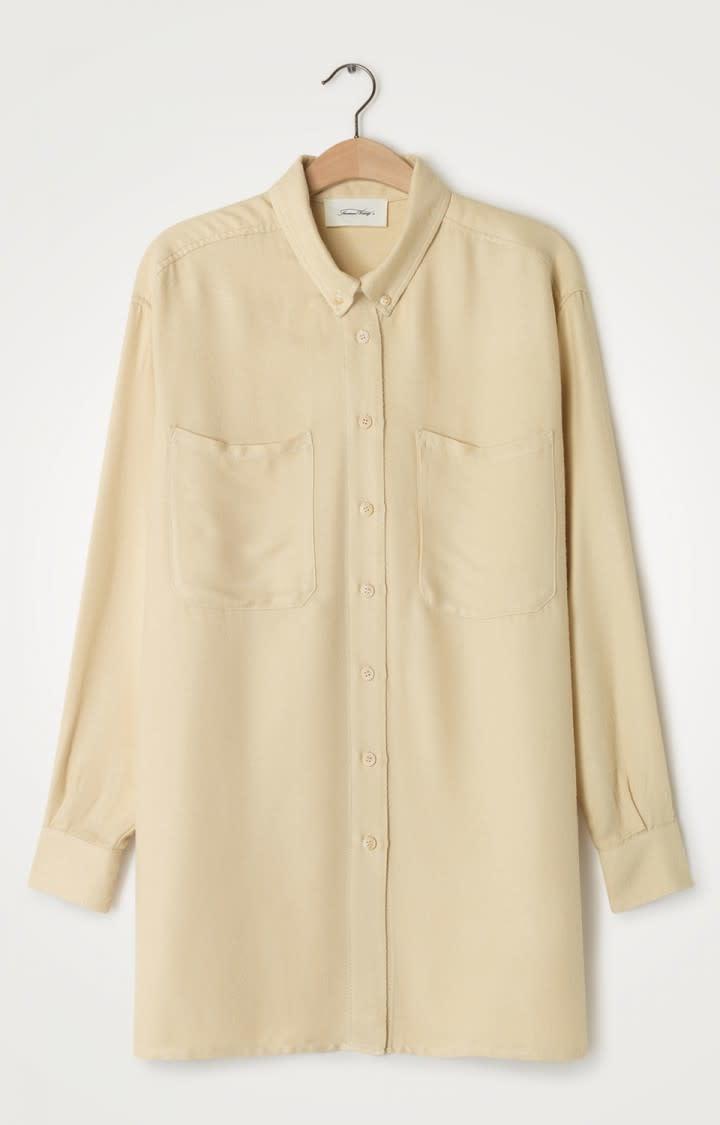 Vimbo Ecru White Oversized Shirt-1