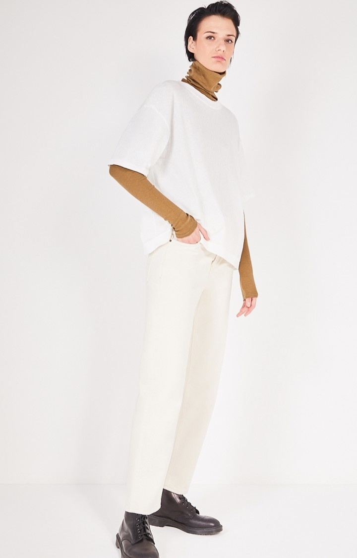 Fakobay Oversized White T-Shirt-2