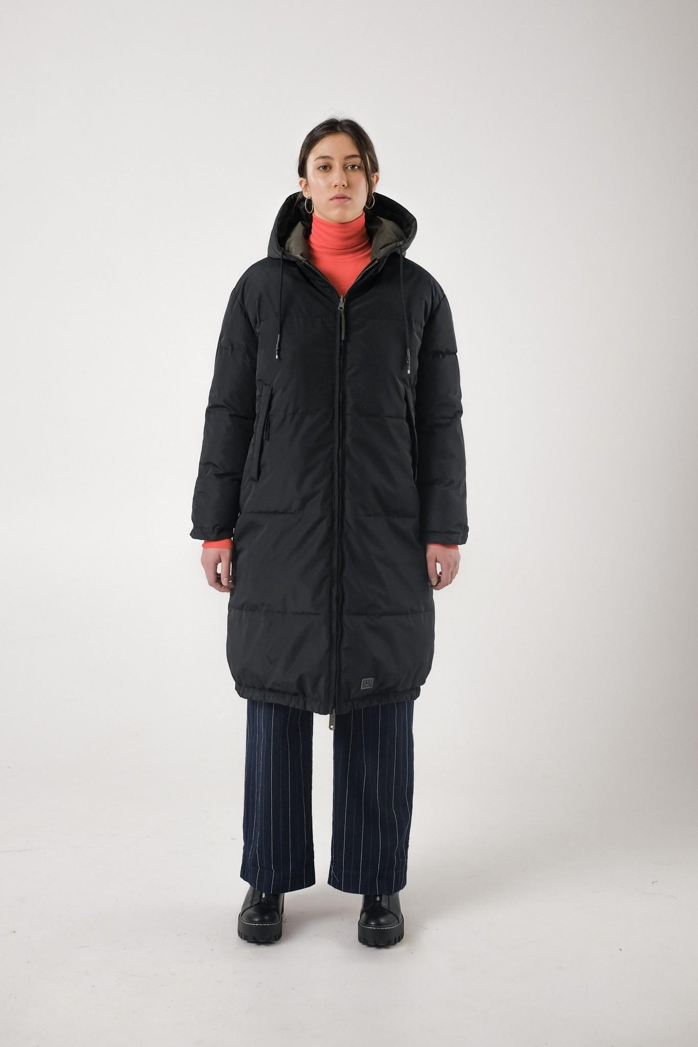 Rhymes Reversible Puffer Jacket Black Olive-1