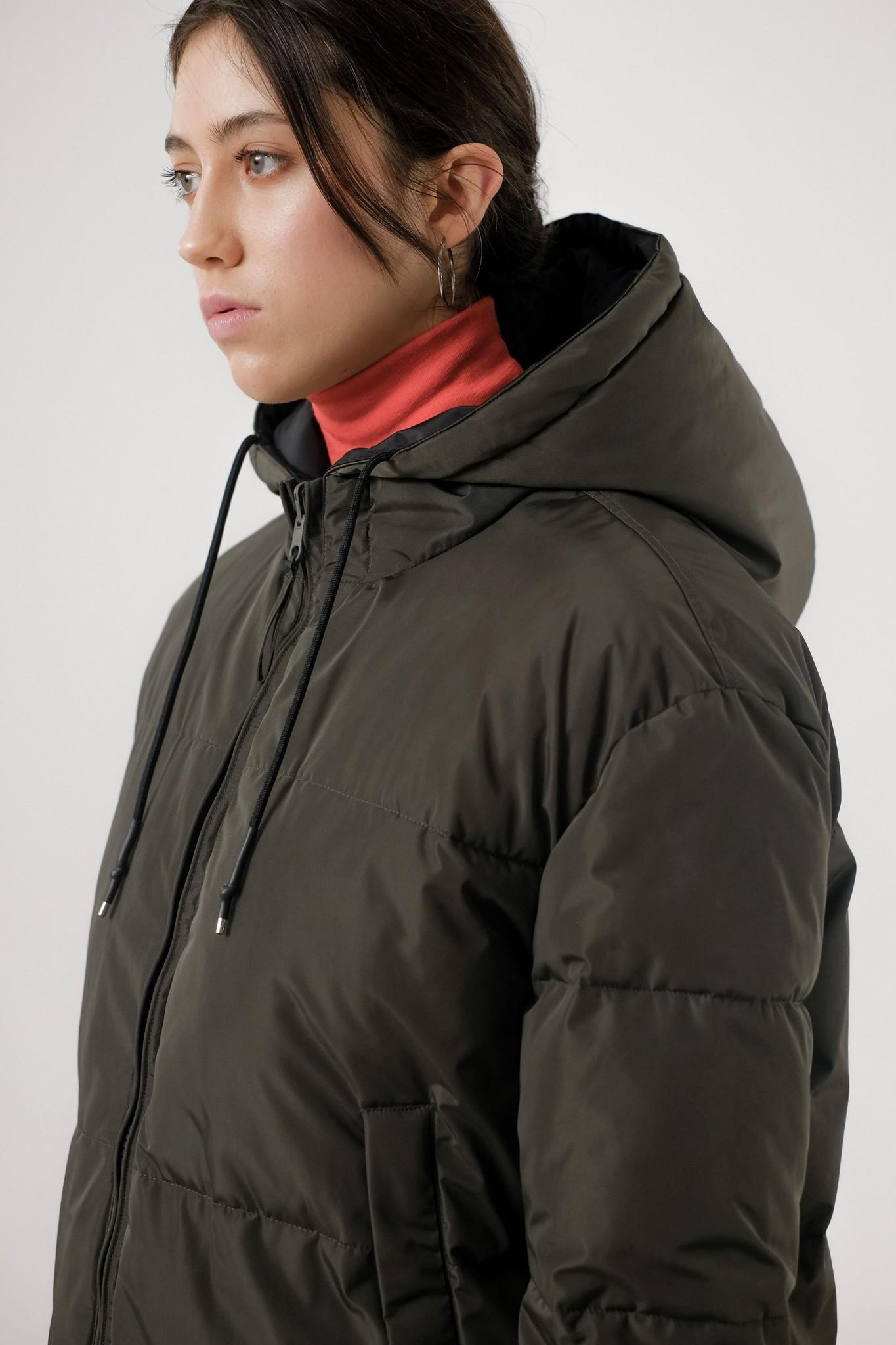 Rhymes Reversible Puffer Jacket Black Olive-2