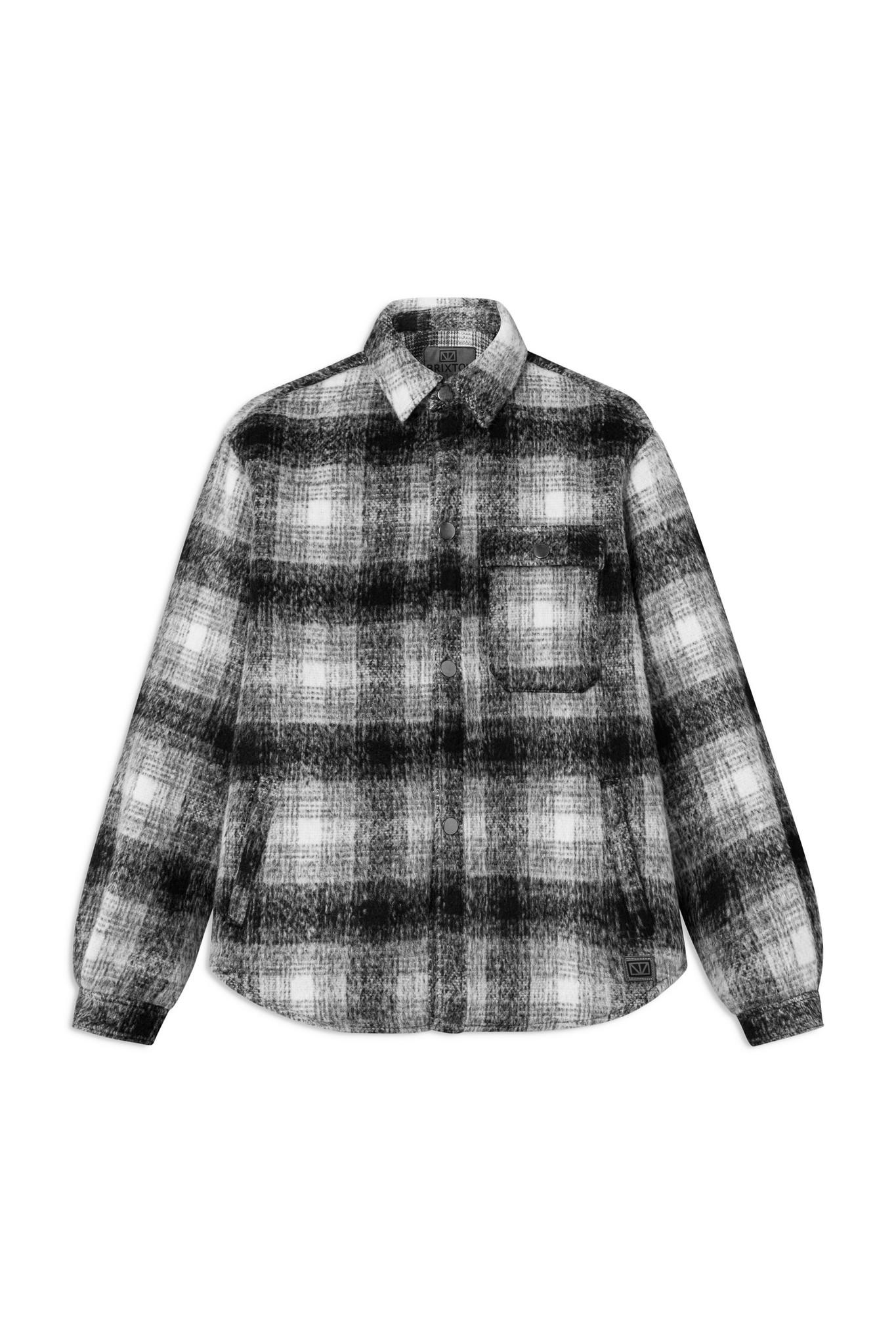 Ally Black White Checker Overshirt-1