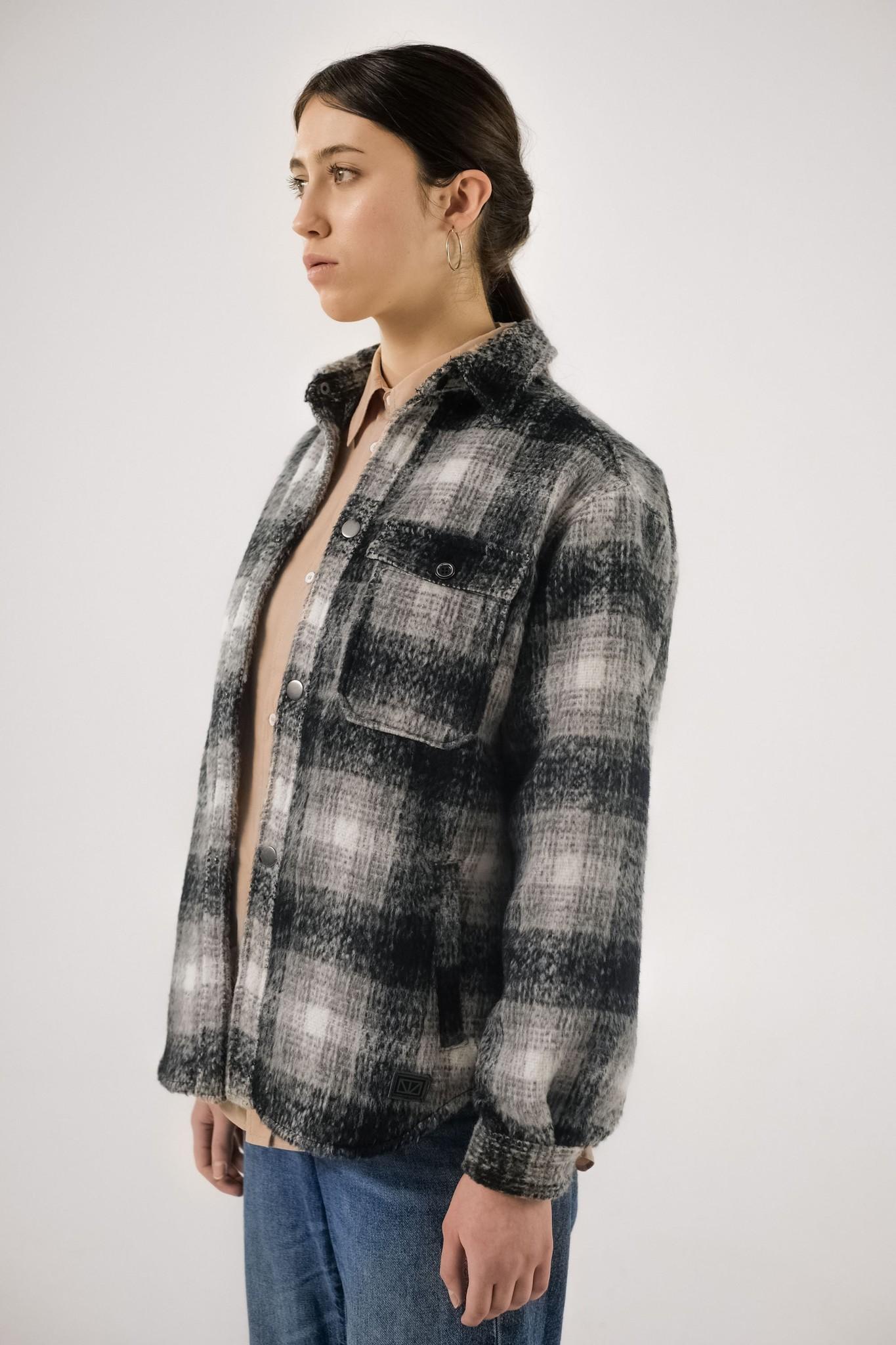 Ally Black White Checker Overshirt-2