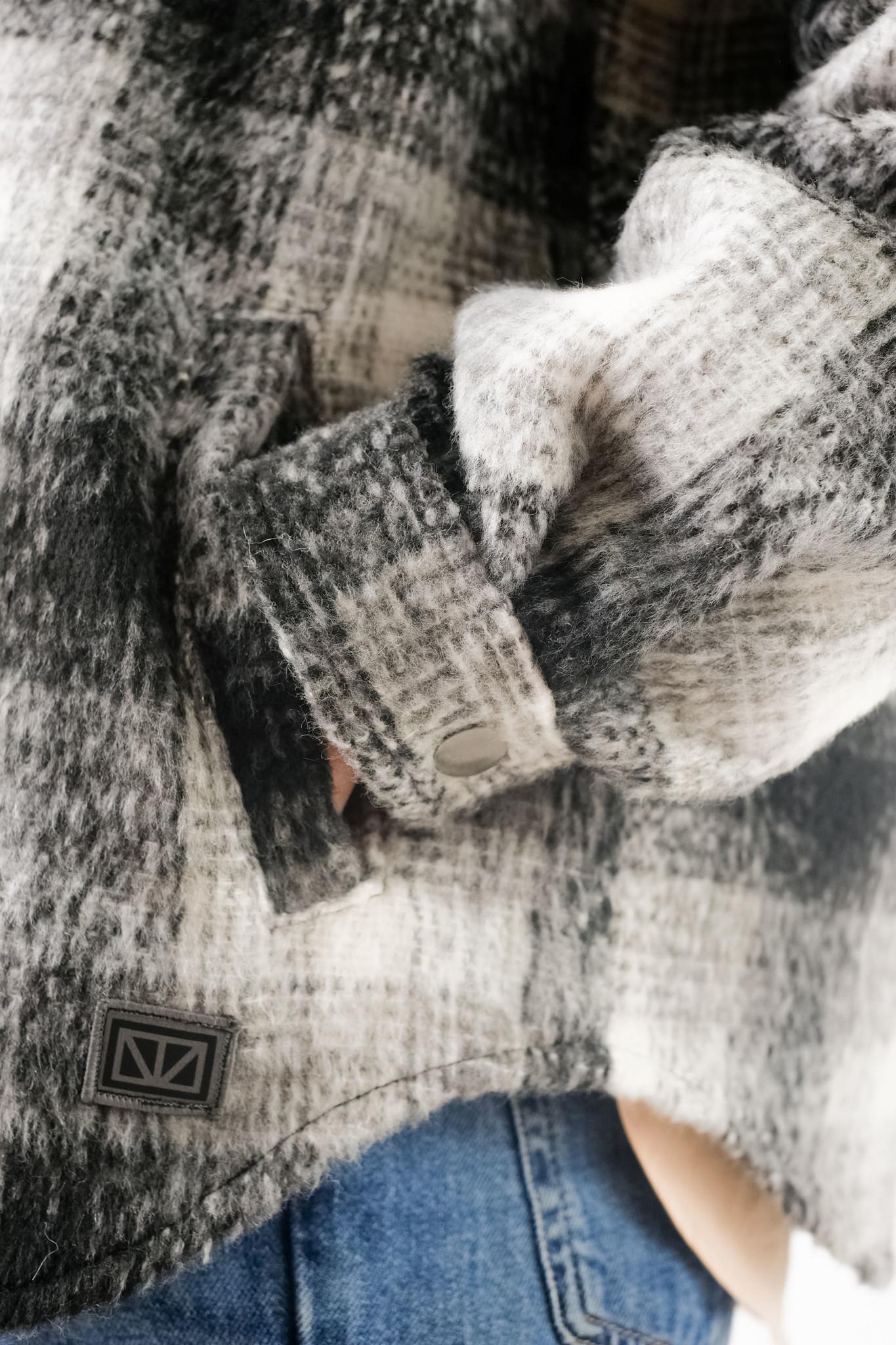 Ally Black White Checker Overshirt-3