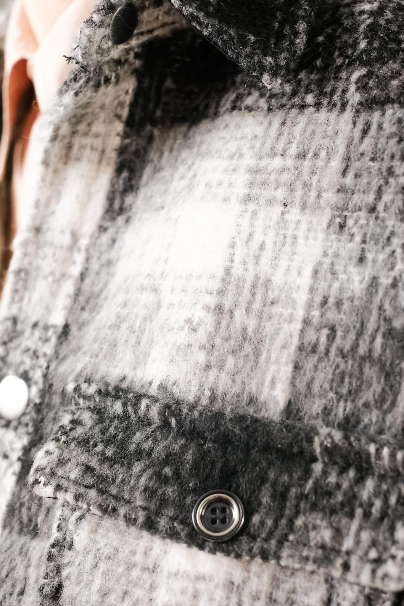 Ally Black White Checker Overshirt-4