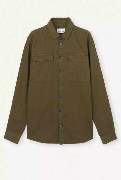 Nation Overshirt Olive Green