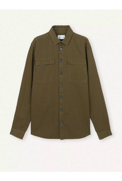 Nation Overshirt Olive Green