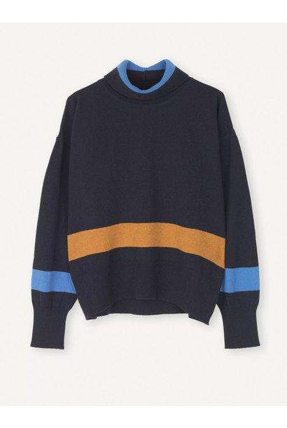 Husky Dark Navy W. Corn Blue Knit