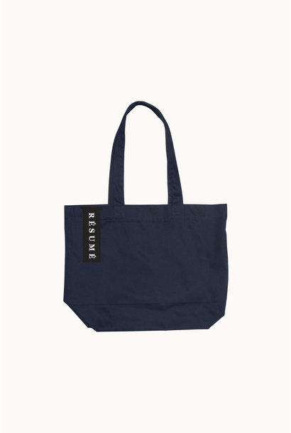 Utana Cotton Tote Bag Navy