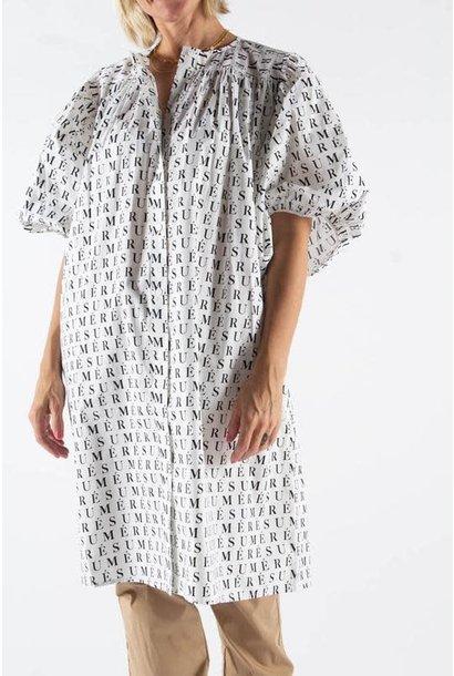 Adele Printed Dress White