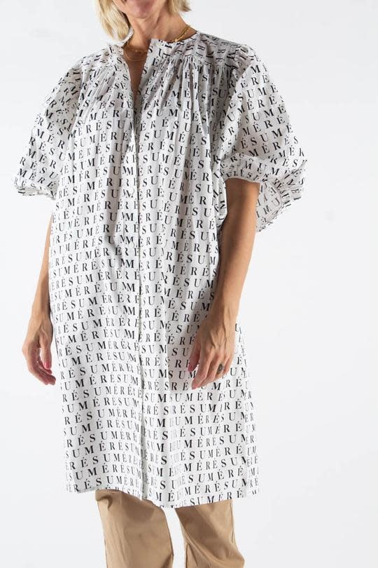Adele Printed Dress White-1