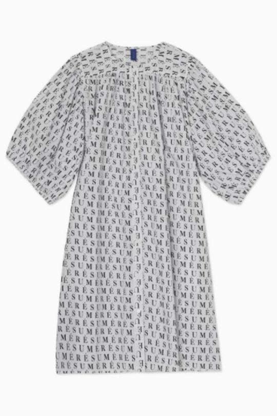 Adele Printed Dress White-2