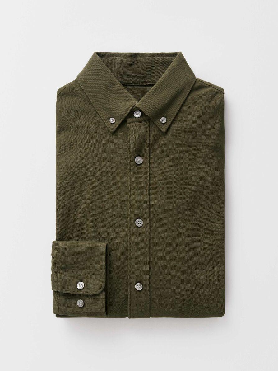 Fenald Pique Shirt Kalamata Green-3