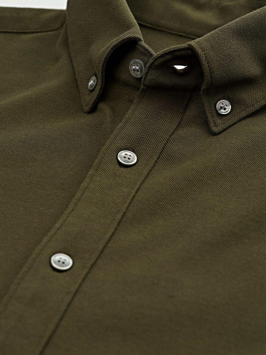 Fenald Pique Shirt Kalamata Green-2