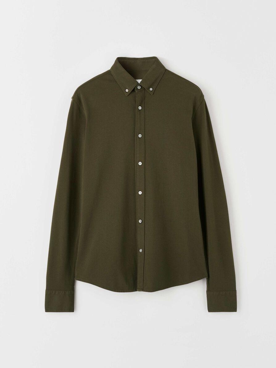 Fenald Pique Shirt Kalamata Green-1
