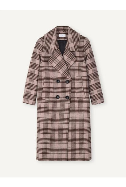 Racer Coat Powder Pink Check