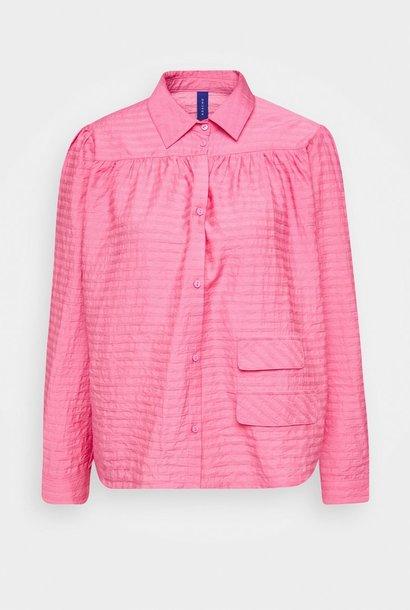 Adrina Bubblegum roze katoenen overhemd