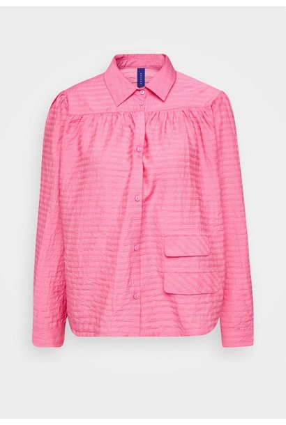 Adrina Bubblegum Pink Cotton Shirt