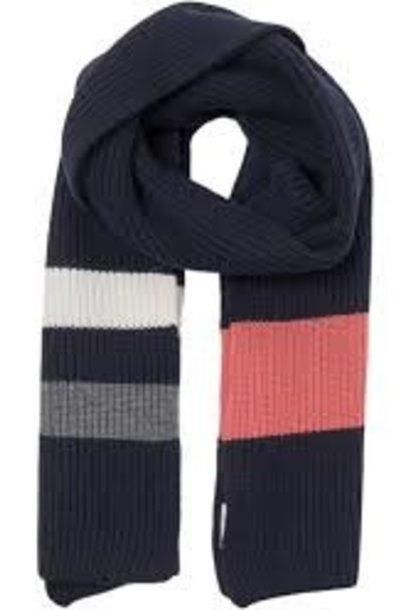 Aspen Marine Blauw Wollen Sjaal