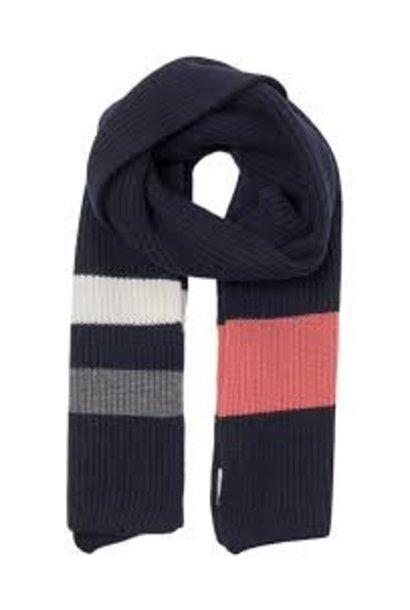 Aspen Dark Navy Wool Scarf
