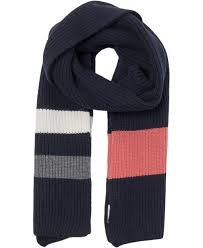 Aspen Dark Navy Wool Scarf-1