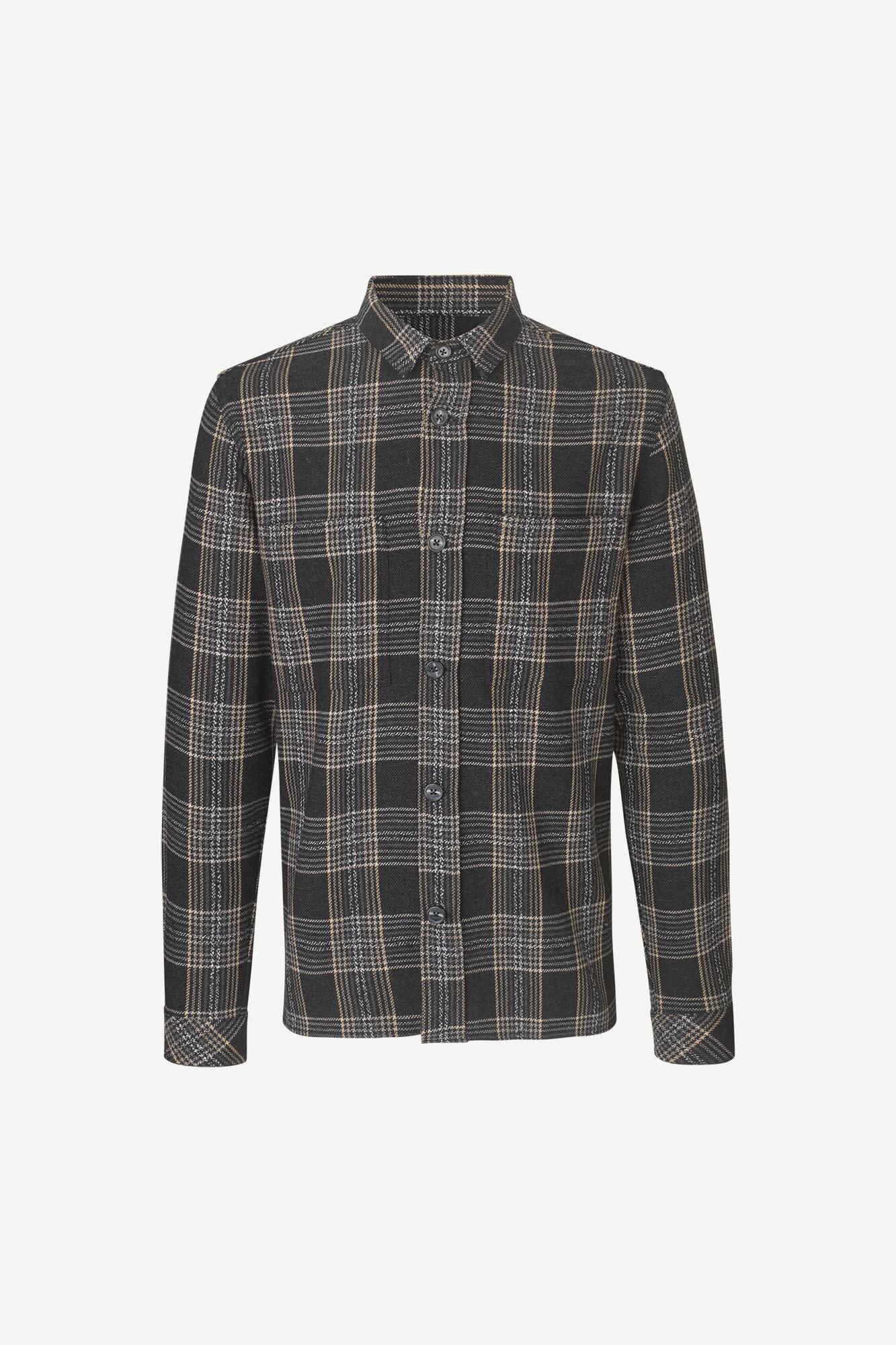 Waltones O Overshirt Black Checker  11703-1