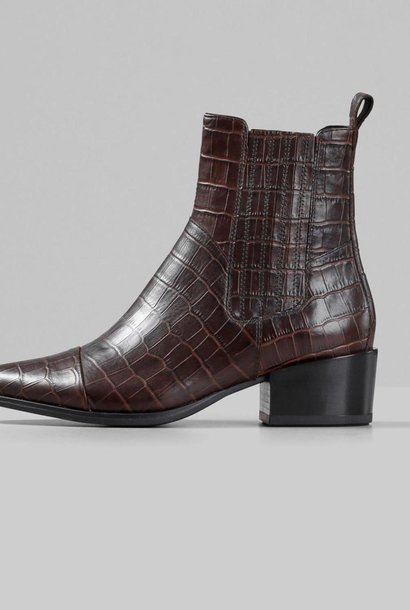 Marja Brown Leather Boots