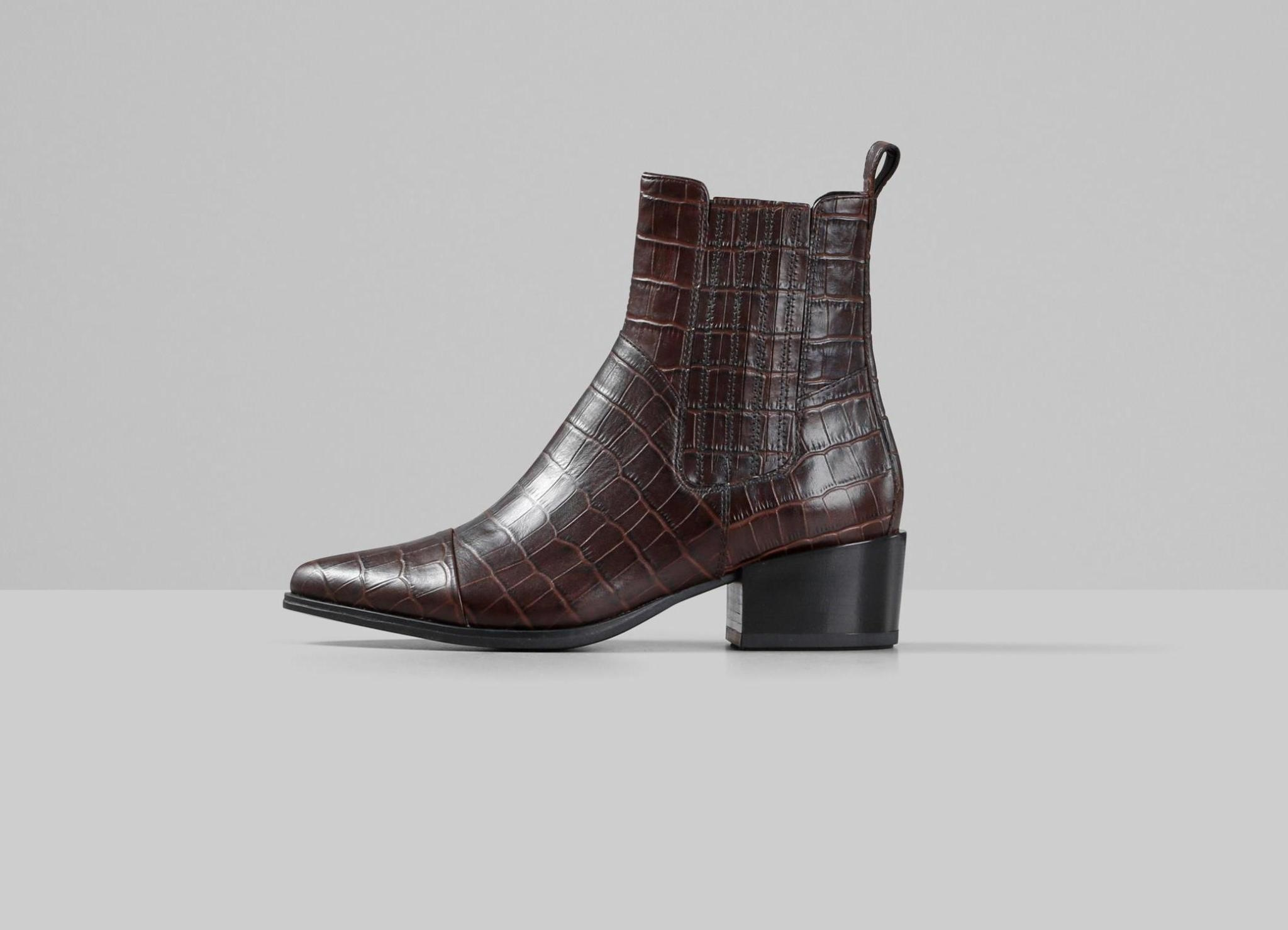 Marja Brown Leather Boots-1