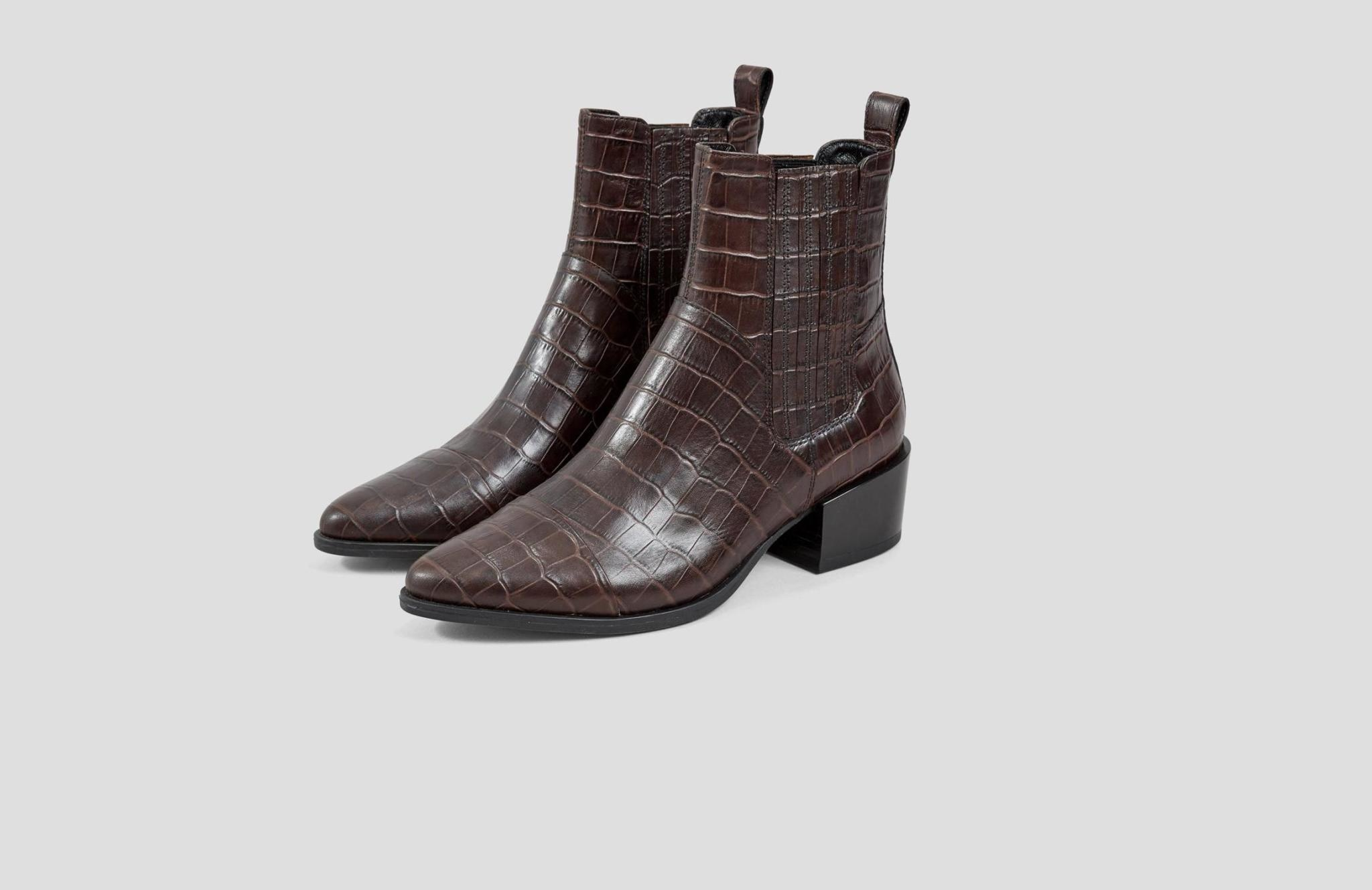 Marja Brown Leather Boots-3