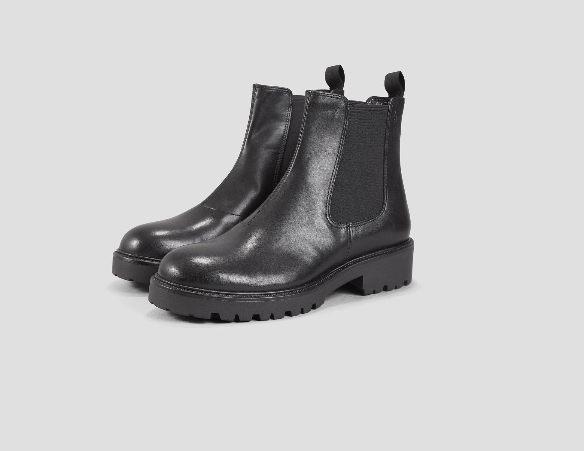 Kenova Black Leather Chelsea Boots-2