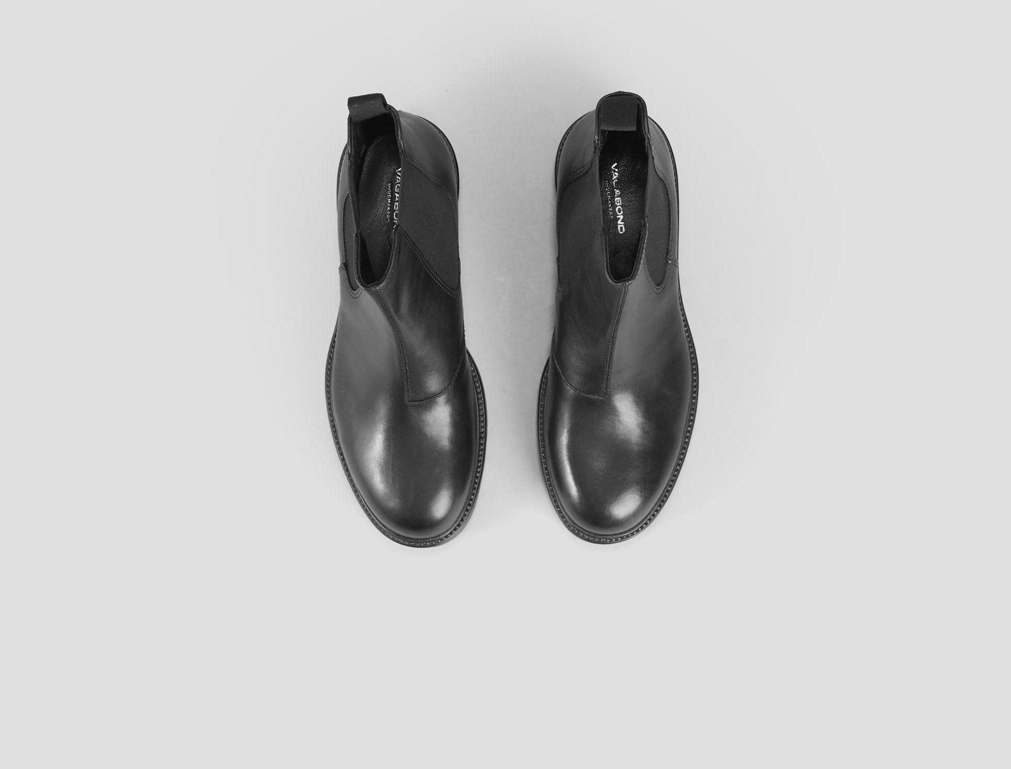 Kenova Black Leather Chelsea Boots-3