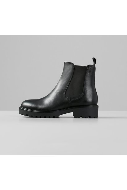 Kenova Black Leather Boots