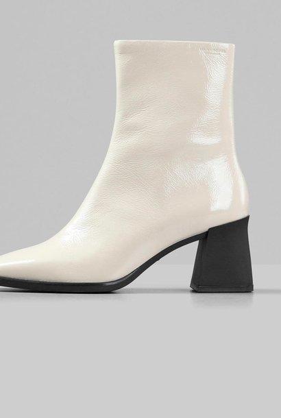 Hedda lakleren witte leren laarzen