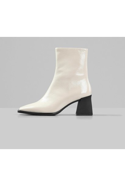Hedda Patent White Leather Boots