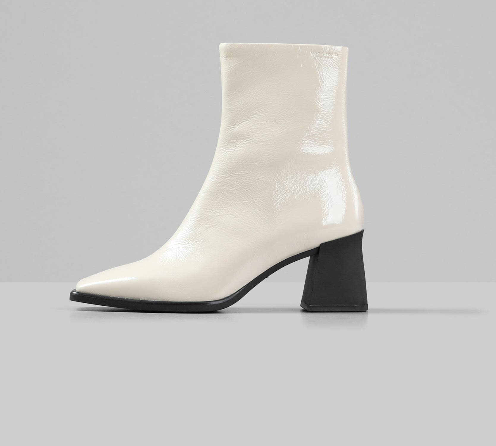 Hedda Patent White Leather Boots-1
