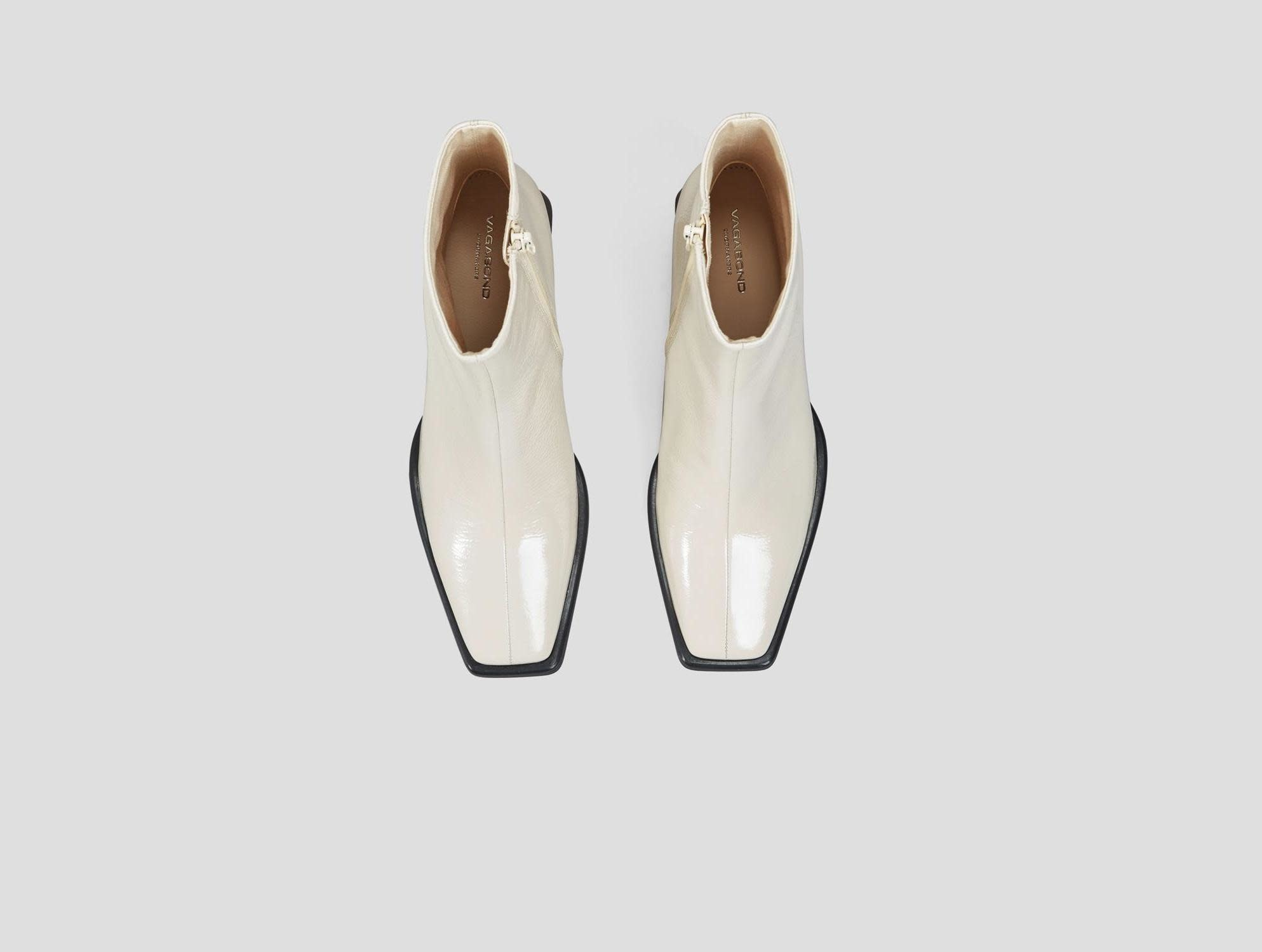 Hedda Patent White Leather Boots-3