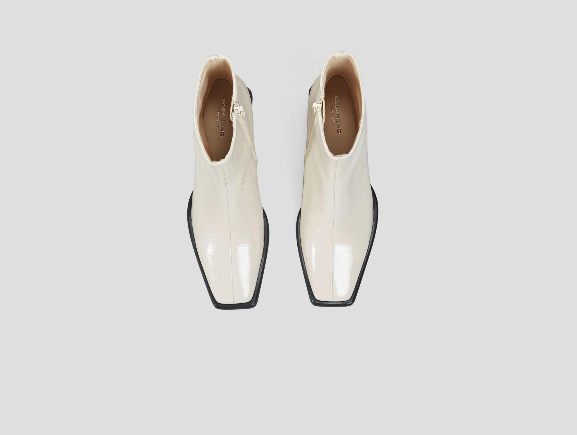 Hedda lakleren witte leren laarzen-3
