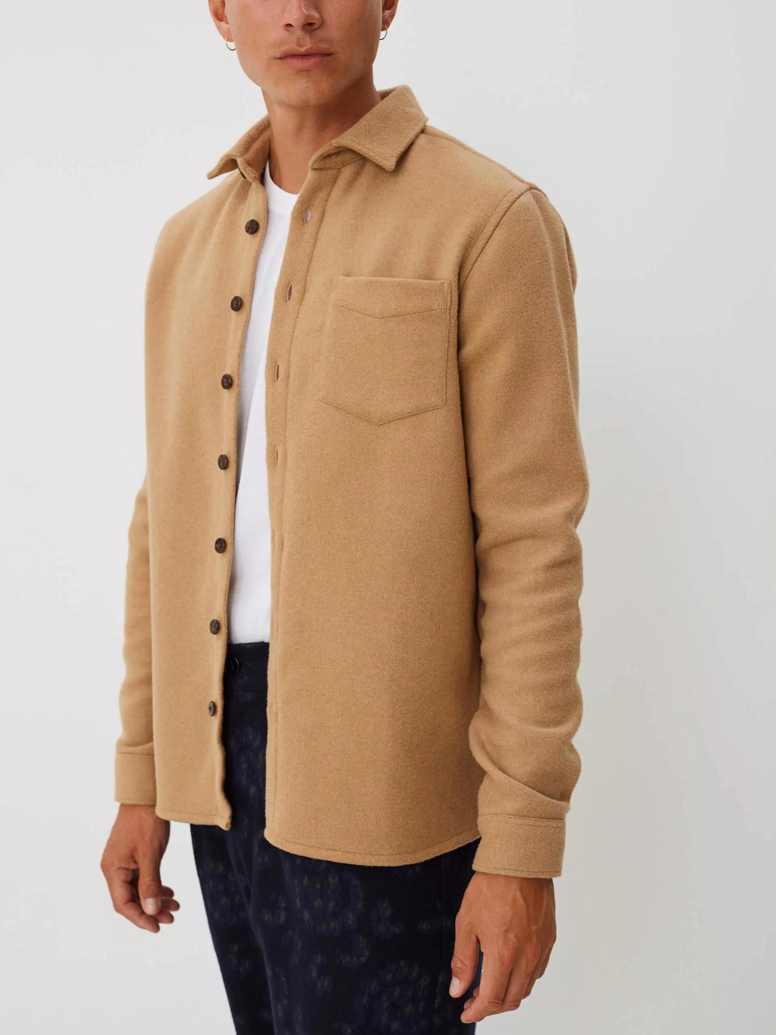 Miracle Khaki Wool Overshirt-2