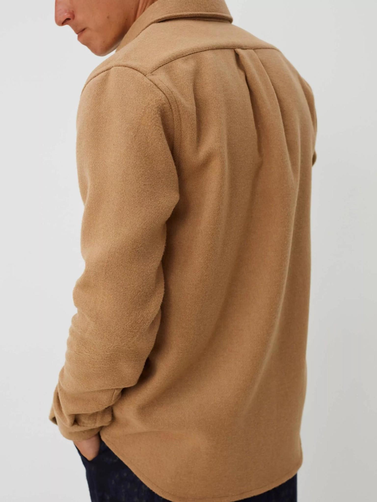 Miracle Khaki Wool Overshirt-3