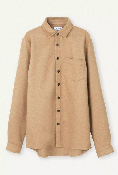 Miracle Khaki Wool Overshirt