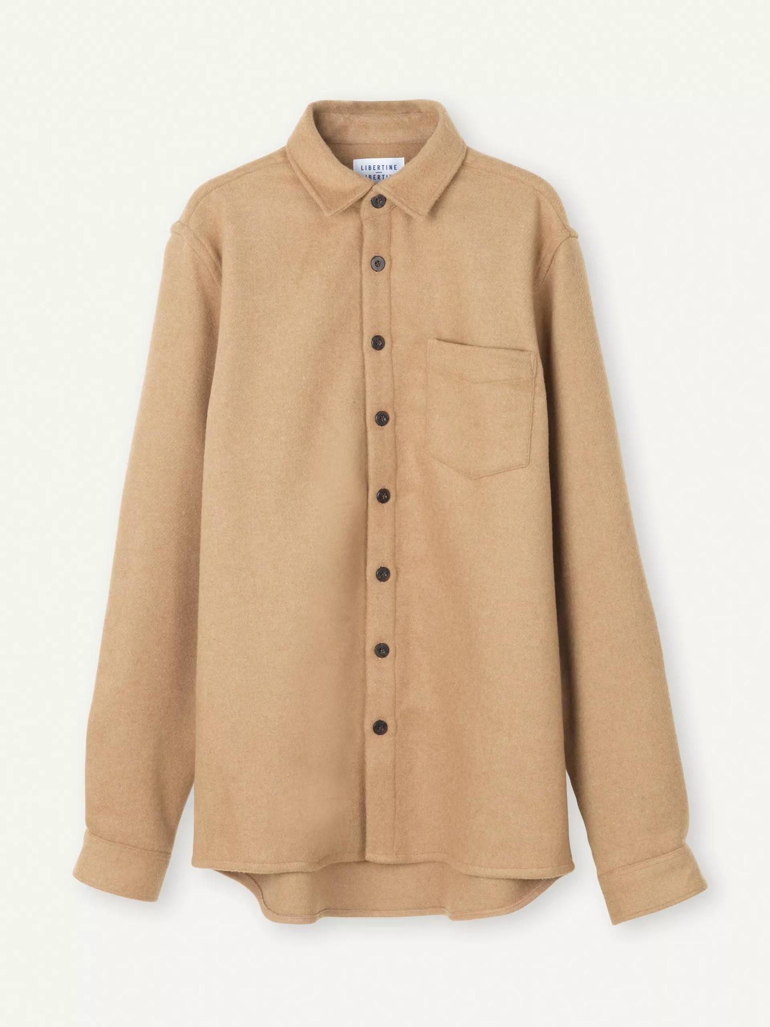 Miracle Khaki Wool Overshirt-1