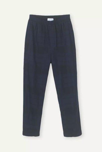 Ferus donkerblauwe geruite broek