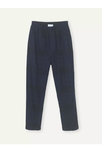 Ferus Dark Navy Check Trouser
