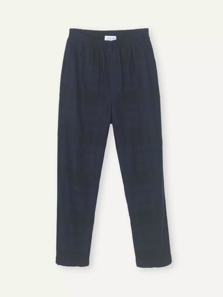 Ferus Dark Navy Check Trouser-1